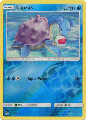 17/68 Lapras Rare Reverse Holo Hidden Fates - The Feisty Lizard
