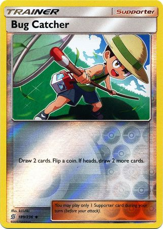 189/236 Bug Catcher Uncommon Trainer Reverse Holo - The Feisty Lizard Melbourne Australia