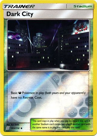 193/236 Dark City Uncommon Trainer Reverse Holo - The Feisty Lizard