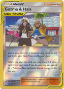 193/236 Guzma & Hala Uncommon Trainer Reverse Holo Cosmic Eclipse - The Feisty Lizard