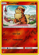 21/214 Growlithe Common Reverse Holo Unbroken Bonds - The Feisty Lizard Melbourne Australia