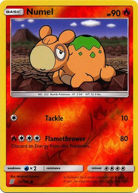 23/236 Numel Common Reverse Holo - The Feisty Lizard