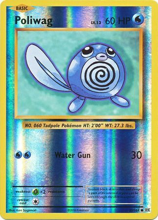 23/108 Poliwag Common Reverse Holo XY Evolutions - The Feisty Lizard Melbourne Australia