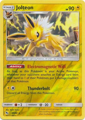 23/68 Jolteon Rare Reverse Holo Hidden Fates - The Feisty Lizard