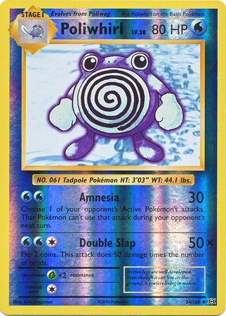 24/108 Poliwhirl Uncommon Reverse Holo XY Evolutions - The Feisty Lizard Melbourne Australia