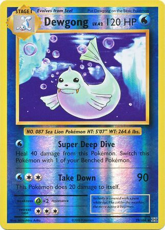 29/108 Dewgong Rare Reverse Holo XY Evolutions - The Feisty Lizard Melbourne Australia