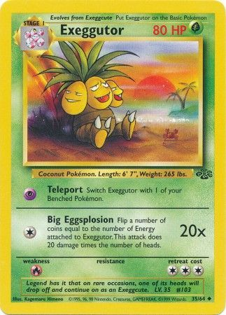 35/64 Exeggutor Uncommon Jungle Set Unlimited - The Feisty Lizard Melbourne Australia