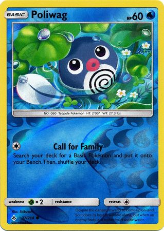 37/214 Poliwag Common Reverse Holo Unbroken Bonds - The Feisty Lizard