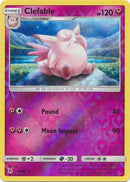 40/68 Clefable Rare Reverse Holo Hidden Fates - The Feisty Lizard