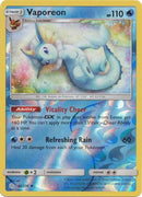 42/236 Vaporeon Uncommon Reverse Holo Cosmic Eclipse - The Feisty Lizard Melbourne Australia