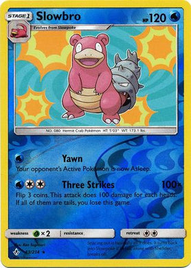 43/214 Slowbro Holo Rare Reverse Holo Unbroken Bonds - The Feisty Lizard