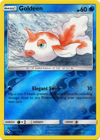 48/214 Goldeen Common Reverse Holo Unbroken Bonds - The Feisty Lizard