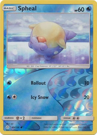 49/236 Spheal Common Reverse Holo Cosmic Eclipse - The Feisty Lizard