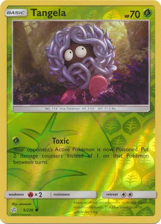 5/236 Tangela Common Reverse Holo Cosmic Eclipse - The Feisty Lizard Melbourne Australia