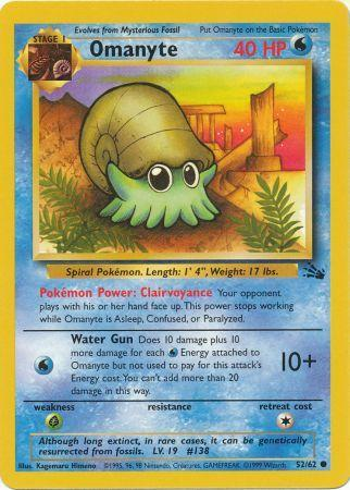 52/62 Omanyte Common Fossil Set Unlimited - The Feisty Lizard