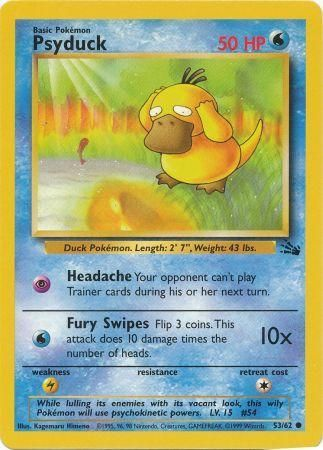 53/62 Psyduck Common Fossil Set Unlimited - The Feisty Lizard