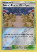 54/68 Brock's Pewter City Gym Trainer Uncommon Reverse Holo Hidden Fates - The Feisty Lizard Melbourne Australia