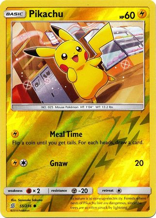 55/236 Pikachu Common Reverse Holo - The Feisty Lizard