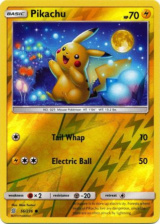 56/236 Pikachu Common Reverse Holo - The Feisty Lizard