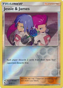 58/68 Jessie & James Trainer Holo Rare Reverse Holo Hidden Fates - The Feisty Lizard