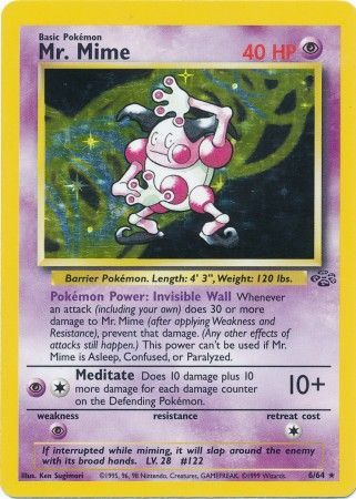 6/64 Mr. Mime Holo Rare Jungle Set Unlimited - The Feisty Lizard Melbourne Australia