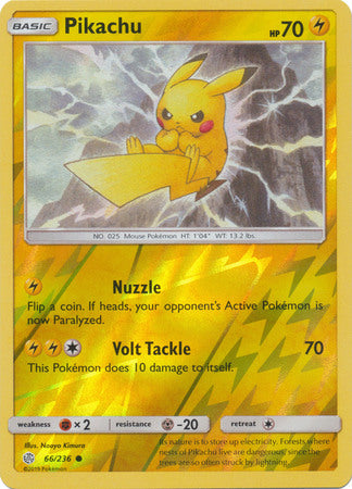 66/236 Pikachu Common Reverse Holo Cosmic Eclipse - The Feisty Lizard
