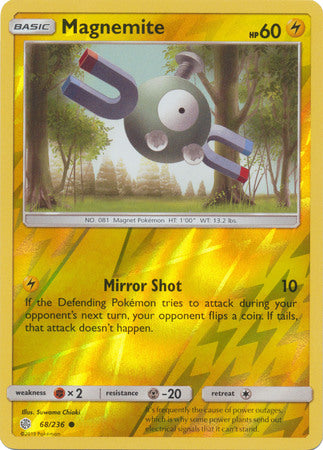 68/236 Magnemite Common Reverse Holo Cosmic Eclipse - The Feisty Lizard