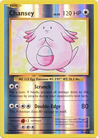 70/108 Chansey Rare Reverse Holo XY Evolutions - The Feisty Lizard Melbourne Australia