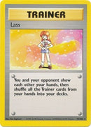 75/102 Lass Trainer Rare Base Set Unlimited - The Feisty Lizard Melbourne Australia