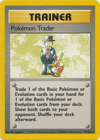 77/102 Pokémon Trader Trainer Rare Base Set Unlimited - The Feisty Lizard Melbourne Australia