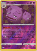 77/236 Weezing Rare Reverse Holo Cosmic Eclipse - The Feisty Lizard Melbourne Australia