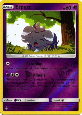 79/214 Espurr Common Reverse Holo Unbroken Bonds - The Feisty Lizard
