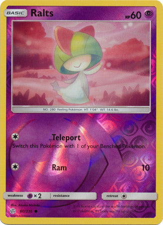 80/236 Ralts Common Reverse Holo Cosmic Eclipse - The Feisty Lizard