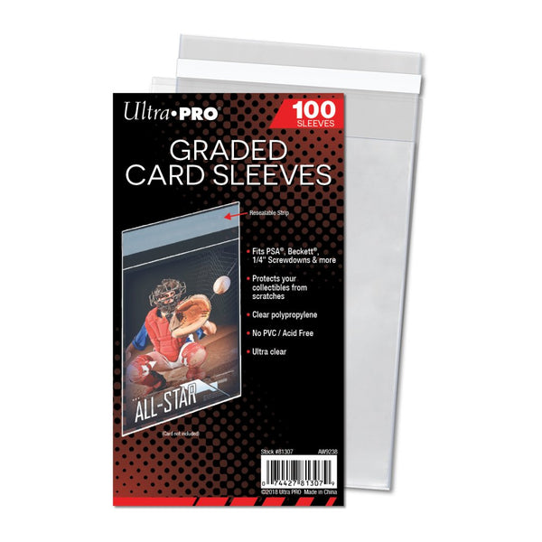 ULTRA PRO Graded Card Sleeves 100 Pack - The Feisty Lizard Melbourne Australia