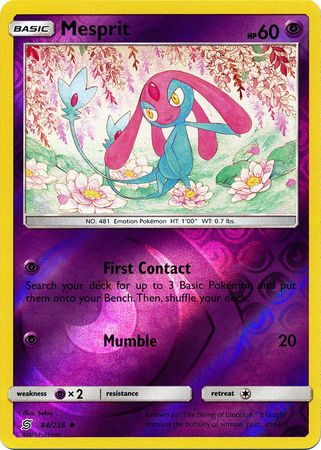 84/236 Mesprit Uncommon Reverse Holo - The Feisty Lizard