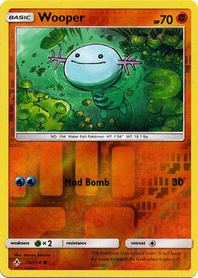 96/214 Wooper Common Reverse Holo Unbroken Bonds - The Feisty Lizard