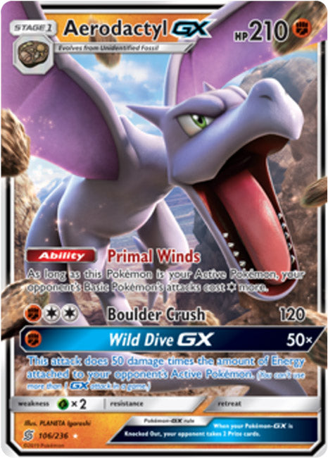 106/236 Aerodactyl GX - The Feisty Lizard