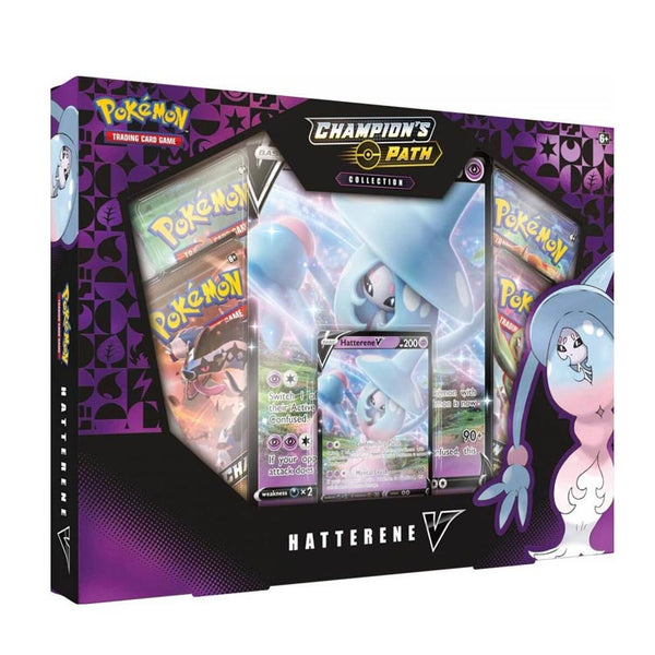 Pokemon TCG Champion's Path Hatterene V Box - The Feisty Lizard