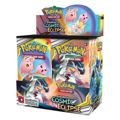 Pokemon TCG Sun & Moon Cosmic Eclipse Booster Box - The Feisty Lizard