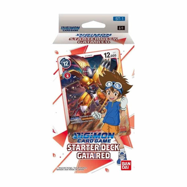 Digimon Card Game Series 01 Starter Display 01 Gaia Red (PRE-ORDER) - The Feisty Lizard Melbourne Australia