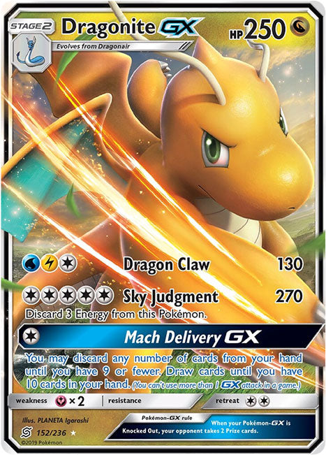 152/236 Dragonite GX - The Feisty Lizard