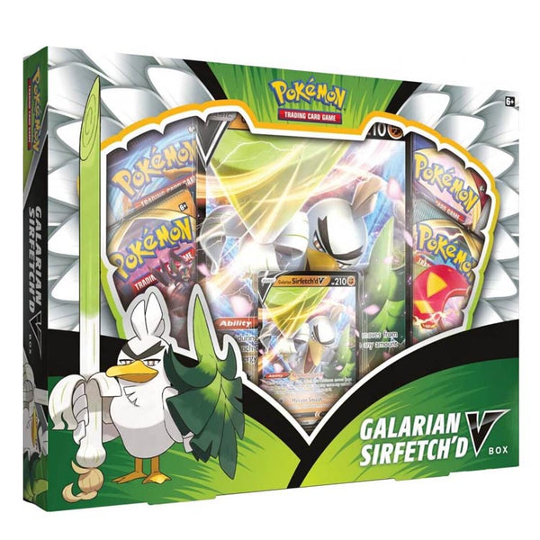 Pokemon TCG Galarian Sirfetch'd V Box - The Feisty Lizard