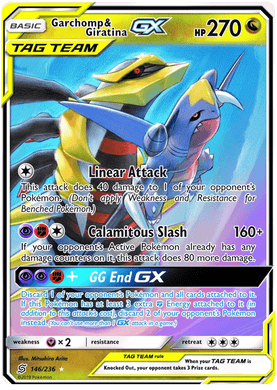 146/236 Garchomp & Giratina Tag Team GX Unified Minds - The Feisty Lizard