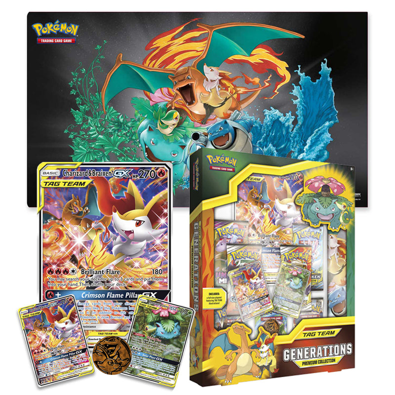 Pokemon TCG Tag Team Generations Premium Collection Box Charizard / Venusaur - The Feisty Lizard