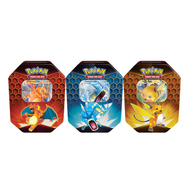 Pokemon TCG Hidden Fates Tin Bundle - The Feisty Lizard
