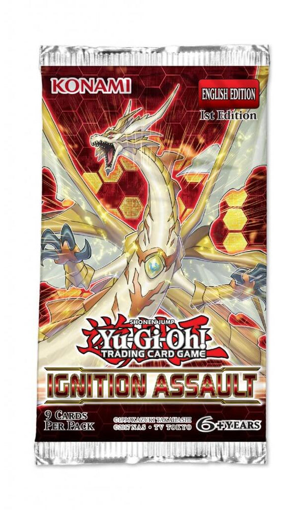 Yu-Gi-Oh TCG Ignition Assault Booster Pack (PRE-ORDER) - The Feisty Lizard