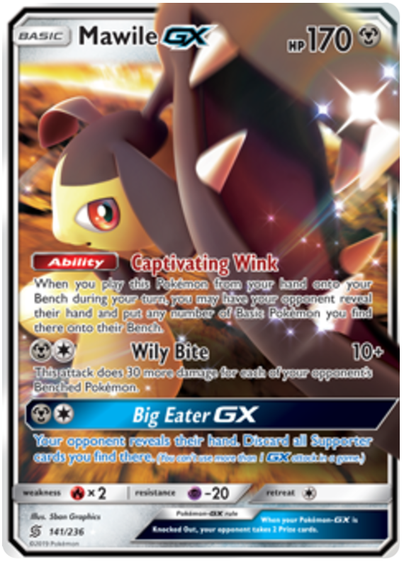 141/236 Mawile GX Ultra Rare - The Feisty Lizard