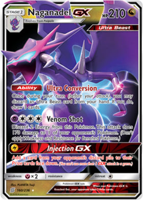 160/236 Naganadel GX - The Feisty Lizard