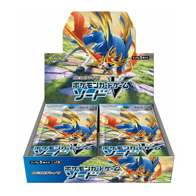 Pokemon TCG Sword & Shield S1W Sword Booster Box Japanese (PRE-ORDER) - The Feisty Lizard