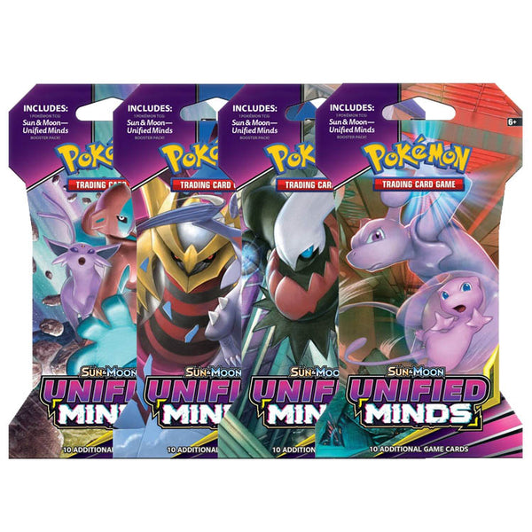 Pokemon TCG Sun & Moon Unified Minds Booster Blister Pack - The Feisty Lizard